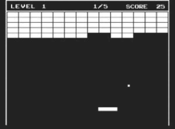 Breakout Atari 1976 Tech 2014